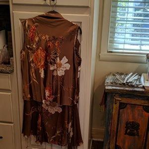 Silk blouse & skirt